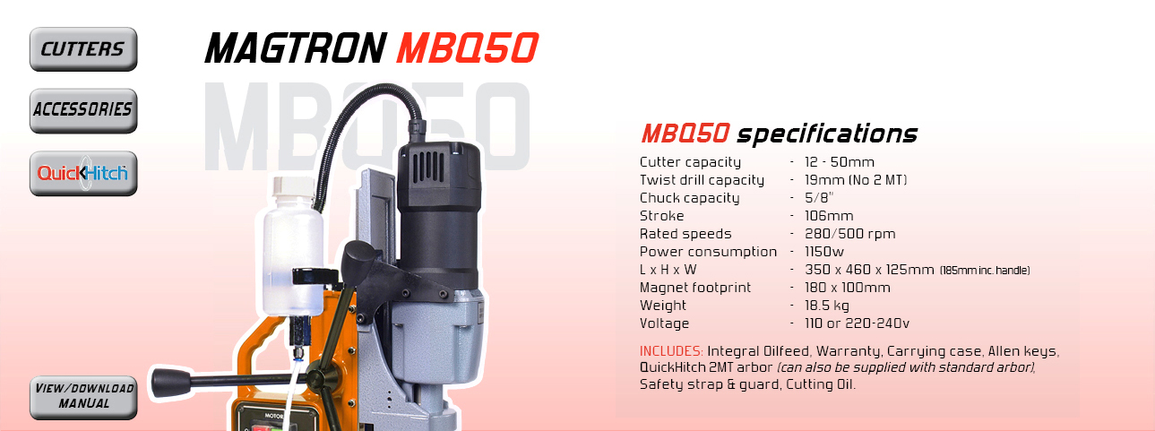 Cutter capacity - 12 - 50mm